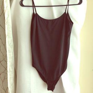 Zara Black Tank Bodysuit Sz S